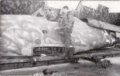 "Me 262A-1a  W. Nr. 110506. This bird has a very distinctive ""squiggle"" camo."