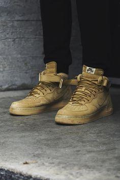 """Nike Air Force I Mid """"Flax"""" 2015"""
