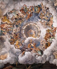 Giulio Romano c. 1532-1534  The Assembly of Gods Around Jupiter's Throne  Sala dei Giganti
