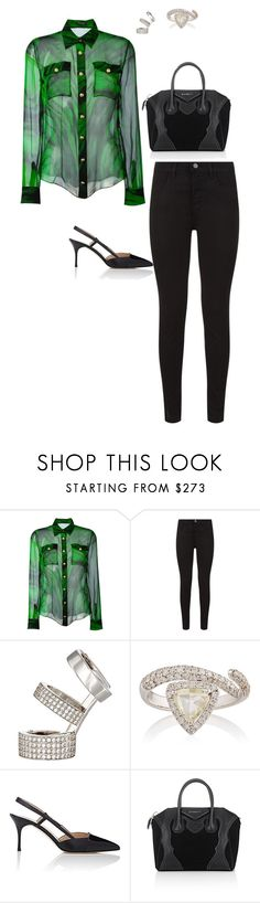 """Untitled #2517"" by janglin725 ❤ liked on Polyvore featuring Balmain, J Brand, Repossi, Zoe, Manolo Blahnik and Givenchy"
