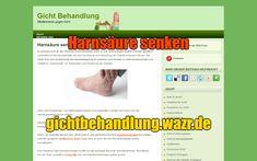 Harnsäure senken - Behandlung von Gicht Gout Diet, People