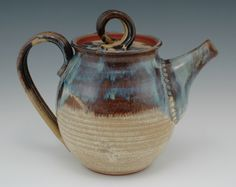 TEA POT BROWN BETTY HANDCRAFTED STONEWARE HANDMADE CERAMICS by GAULEY RIVER POTTERY WV