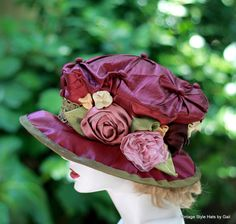 Edwardian Victorian Silk Fabric Hat Vintage Renaissance by BuyGail