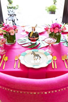 DIY Cocktail Party Tablescape with Chambord, See More at http://Pizzazzerie.com