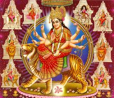 Goddess Durga is the mother of the universe and believed to be the  power behind the work of creation, preservation, and destruction of  the world. Since time immemorial she has been worshipped as the  supreme power of the Supreme Being and has been mentioned in many  scriptures – Yajur Veda, Vajasaneyi Samhita and Taittareya Brahman.