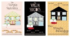 Fan posters for Sofia Coppola's film The Virgin Suicides.