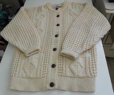 Women's Quills Wool Ireland Cardigan Sweater Hand Crafted Cream Sz Not Listed #QuillsWoollenMarket #Cardigan