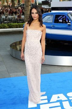 Actress Jordana Brewster attends the World Premiere of 'Fast & Furious 6' at Empire Leicester Square on May 7, 2013 in London, England.