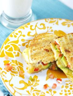 Grilled Cheese Sandwich with Gouda, Pico de Gallo & Avocado Recipe