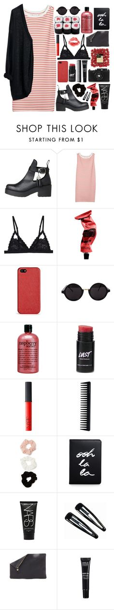 """""""A Day in the City."""" by fashionispurebliss ❤ liked on Polyvore featuring Joie, Cosabella, MTWTFSS Weekday, Aesop, DKNY, American Apparel, philosophy, NARS Cosmetics, GHD and Forever 21"""