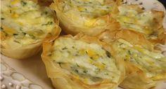 Tortinha folhada 5 queijos