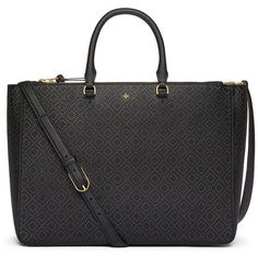 Tory Burch Robinson Perforated Multi Tote ($650) ❤ liked on Polyvore featuring bags, handbags and tote bags