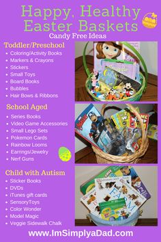 Autism And Allergy Easter Guide To A Happy, Healthy Easter Non Candy Easter  Baskets