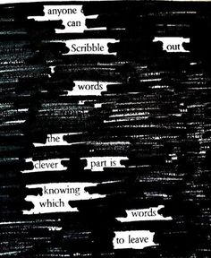 Program for Teens: Newspaper + Marker = Blackout Poetry! These poems are created by taking away words instead of adding themPoetry Program for Teens: Newspaper + Marker = Blackout Poetry! These poems are created by taking away words instead of adding them Blackout Poetry, Poetry Art, Poetry Quotes, Poetry Lessons, Deep Poetry, Writing Poetry, Poetry Classes, Forms Of Poetry, Slam Poetry