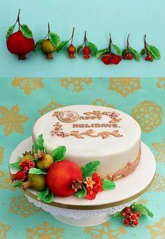 Pomegranate Christmas Cake.