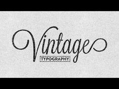 Creating Vintage Typography Easily - Illustrator CC 2014 - YouTube