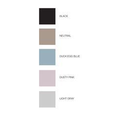 Quint Design Store Colour Swatches