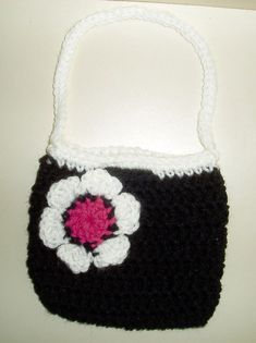 Black Crocheted Pouch.