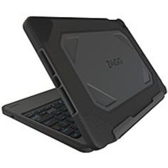 ZAGG Rugged Book Keyboard/Cover Case for iPad Air 2 - Black - Polycarbonate, Silicone, Stainless Steel