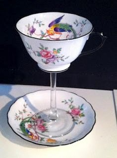 Tea Cup Wine Glass