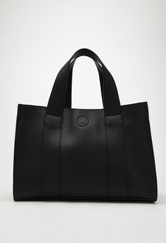 #FOREVER21 Faux Leather Combo Mini Tote