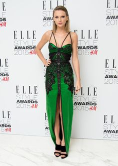 Taylor Swift in Julien Macdonald, not going out of style at the Elle Style Awards. Photo: Ian Gavan/Getty Images