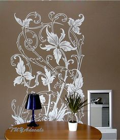 wall decals Vinyl Wall Decal Nature Design Tree Wall Decals chrildren's wall decals Wallstickers Tree with birds decals :butterfly flower sur Etsy, $94.05 CAD