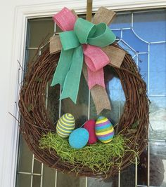 Easter Wreath  Easter Grapevine Wreath  by DecoDecorByPatina