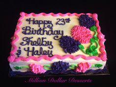 Hydrangea Sheet Cake #MillionDollarDesserts
