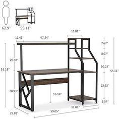 Rustic Office Desk, Large Office Desk, Office Desk With Hutch, Home Office Computer Desk, Office Workspace, Desk Hutch, Computer Desks, Office Setup, Office Organization