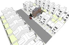 1204 RoHouse design in Suburban Townhouse development pattern.  Modern House Plans by Gregory La Vardera Architect