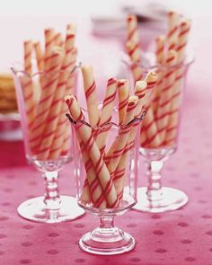 Candy-Stripe Cookie Sticks Festive candy-stripe cookie sticks are a holiday favorite, but can be enjoyed as a treat any time of year. YIELD:Makes 30 cookie sticks Cookie Sticks, Roll Cookies, Cookies Et Biscuits, Christmas Desserts, Christmas Baking, Christmas Treats, Holiday Baking, Christmas Candy, Holiday Treats