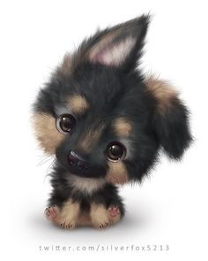 The cutest dog ever! - Chiara - cutest : The cutest dog ever! Cute Dog Drawing, Cute Animal Drawings, Kawaii Drawings, Pencil Drawings, Rabbit Drawing, Puppy Drawings, Adorable Drawings, Baby Drawing, Drawing Animals