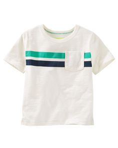 Toddler Boy Engineered Stripe Pocket Tee   OshKosh.com
