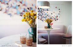 love the butterflies, love the colours and I also like the tulip table, bench seat and tulip chairs