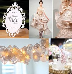 Trend: Laser cutting & Lace.........Wedding Trend 2013 Lace and Laser Cut 2