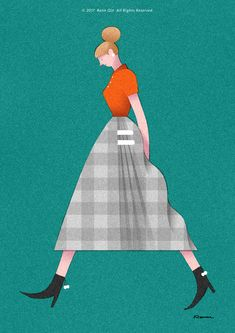 WALKING GIRLS on Behance People Illustration, Portrait Illustration, Illustration Girl, Character Illustration, Graphic Design Illustration, Character Art, Character Design, Collages, Realistic Drawings