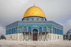 Dome of the Rock. A shrine located on the Temple Mount in the Old City of Jerusalem. The site's significance stems from religious traditions regarding the rock, known as the Foundation Stone, at its heart, which bears great significance for Jews, Christians and Muslims.  Photo by Andrea Catelli -- National Geographic Your Shot