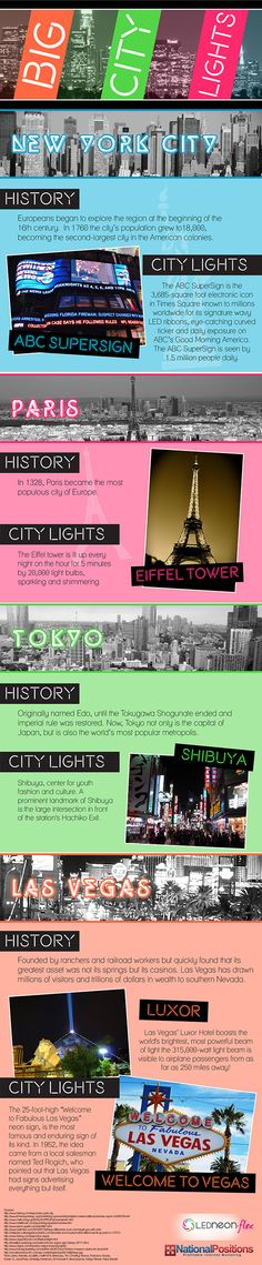 Big City Lights - New York, Paris, Tokyo, and Las Vegas are all famous for one thing: Their bright lit up billboards and lights!   - sponsored