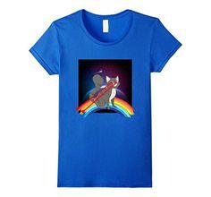 Women's Cat Rainbow Laser Beams Cute Funny Fluffy Kitty L...…