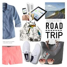"""""""Road Trippin' in Style"""" by janephoto ❤ liked on Polyvore featuring Independent Reign, J.Crew, Colette Malouf, Michael Kors, Markus Lupfer, BCBGMAXAZRIA, Keds and Milly"""