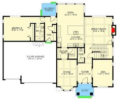 Plans Woodworking Craftsman House Plan With In-Law Potential - Jet Woodworking Tools, Woodworking Patterns, Woodworking Projects, Wood Projects, Woodworking Furniture, Woodworking Workshop, Popular Woodworking, Woodworking Store, Woodworking Workbench