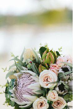 32 New Ideas Wedding Bouquets Australian Brides Silk Flower Bouquets, Bride Bouquets, Rose Bouquet, Bridesmaid Bouquet, Silk Flowers, Cake Flowers, Green Flowers, Colorful Flowers, Flor Protea