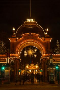 Tivoli is Copenhagen's amusement park. Free concerts on Fridays and the second-oldest wooden roller coaster!