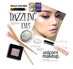 """Unicorn Makeup"" by paperdollsq ❤ liked on Polyvore featuring beauty, Bobbi Brown Cosmetics, NARS Cosmetics, Iman and unicornmakeup"
