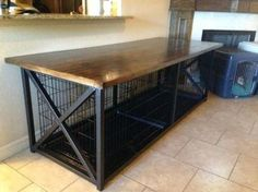 not work full enclosed custom crate dog kennel cover table merry products with w. not work full enclosed custom crate dog kennel cover table merry products with w… Dog Crate Table, Dog Crate Furniture, Diy Dog Crate, Dog Crate Beds, Furniture Dog Kennel, Wooden Dog Crate, Wood Dog, Furniture Stores, Dog Crate Cover