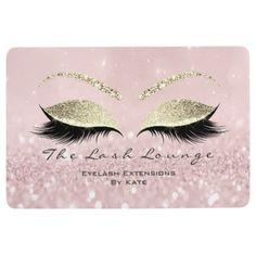 Gold Pink White Makeup Glitter Lashes Beauty Studi Floor Mat - glitter glamour brilliance sparkle design idea diy elegant