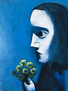 Paintings - Charles Blackman - Page 2 - Australian Art Auction Records Australian Painters, Australian Artists, Picasso And Braque, Expressionist Artists, Expressionism, Girls With Flowers, Modern Artists, Naive Art, It Goes On