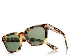 Gucci havana acetate square-frame sunglasses