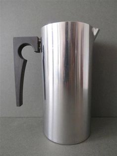 Vintage Stainless Steel Stelton Cylinda Line Water Pitcher Arne Jacobsen